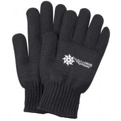 Black Knit Gloves with Medium Weight