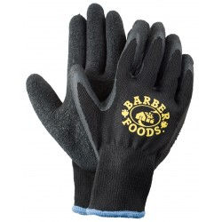 Black Knit Latex Palm Gloves