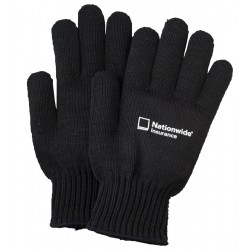 Black Knit Runner's Gloves