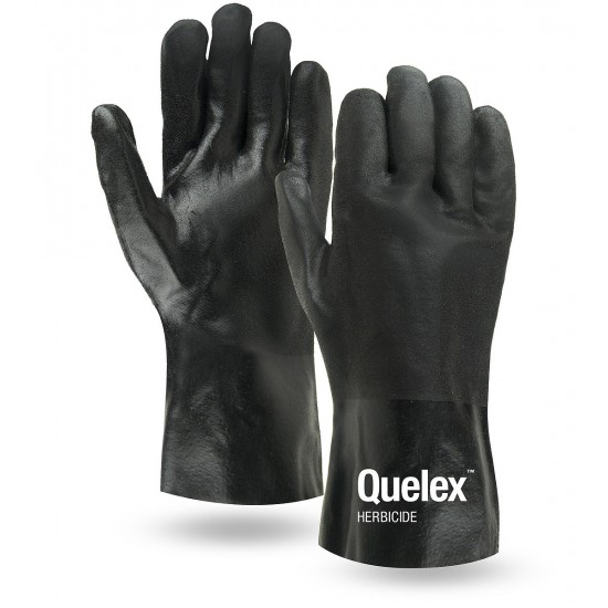 Black PVC Double Dipped Coated Gloves