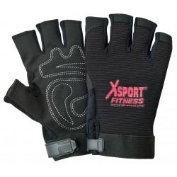 Black Reinforced Palm Sports Glove
