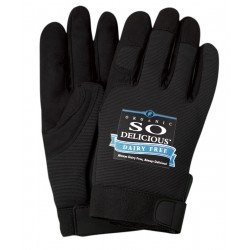 Black Spandex Mechanics Gloves