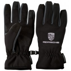 Black Touchscreen Lined Gloves