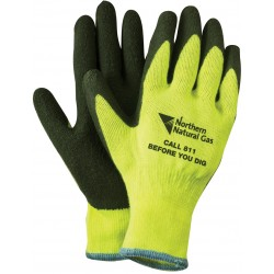 Bright Neon Palm Dipped Gloves