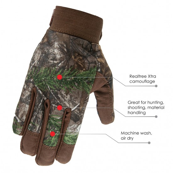 Camo Gloves with Super Grip