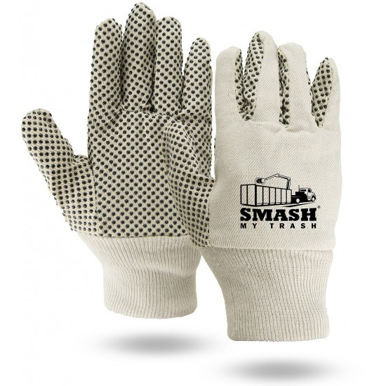 Canvas Work Gloves with Grip Dots