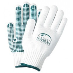 Freezer Gloves with Green Grip Dots