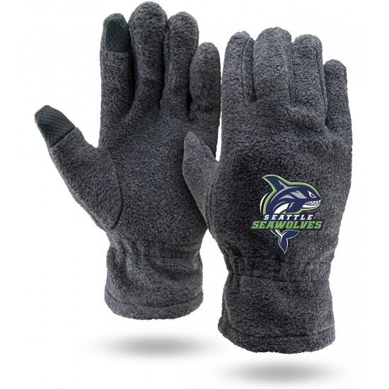 Gray Fleece Touchscreen Gloves