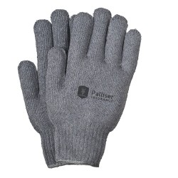Gray Knit Gloves with Elastic Wrist