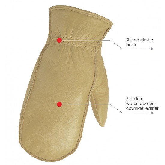 Leather Mittens with Lining
