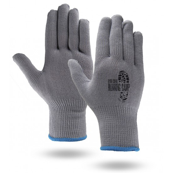 Moisture Wicking Running Gloves in White or Gray Color
