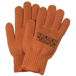 Orange Knit Medium Weight Gloves