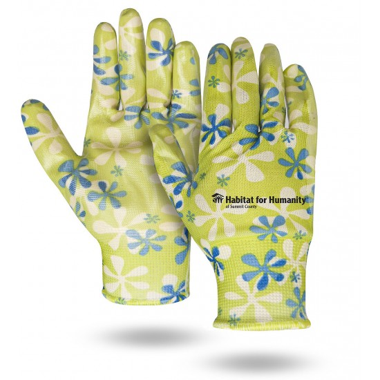Palm Dipped Flower Pattern Gloves