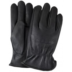 Premium Grain Black Leather Gloves with Lining