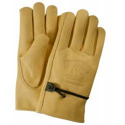 Premium Grain Cowhide Leather Gloves with Adjustable Strap