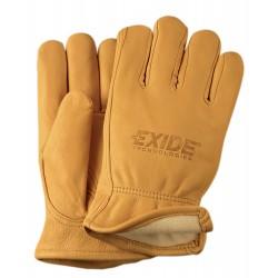 Premium Grain Golden Deerskin Gloves - Lined