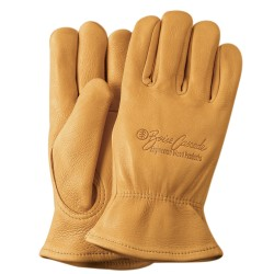 Premium Grain Golden Deerskin Gloves