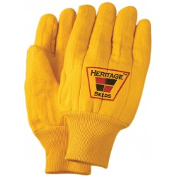 Quilted Yellow Work Gloves