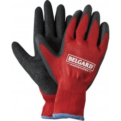 Red Knit Gloves with Dipped Palms