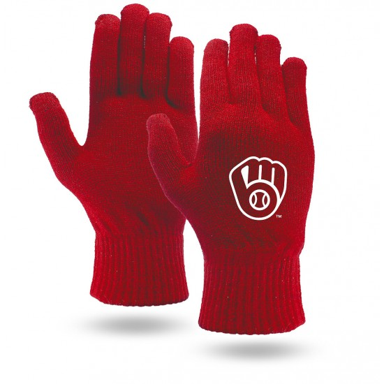 Knit Touchscreen Gloves - Red, Blue or Black Colors