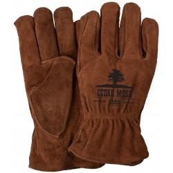 Rich Brown Suede Gloves