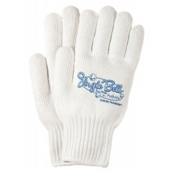 Simple and Stylish White Knit Gloves