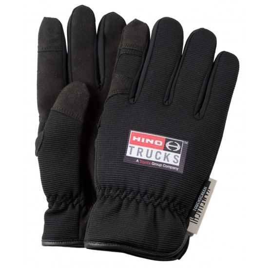 Thinsulate-Lined Black Touchscreen Gloves