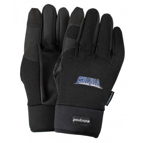 Thinsulate-Lined Waterproof Black Touchscreen Gloves